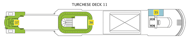 Deck 11 Turchese Costa Luminosa - Squok Poolbereich, Joggingstrecke, Yoga Area, Sportplatz