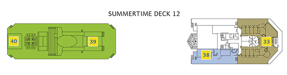 Deck 12 Summertime Costa Pacifica - Samsara Wellness Bereich, Formel 1 Bar, Joggingstrecke, Sportplatz